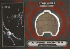 "Star Wars Chrome Perspectives - #15 of 30 Gold Helmet ""X-Wing Fighter"""