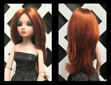 Doll Wig, Ellowyne Sue 7 1/4 in Double Red (READ description) Factory Sample
