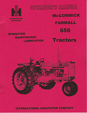 IHC McCormick Farmall 656 Tractor Operators Manual International Harvester