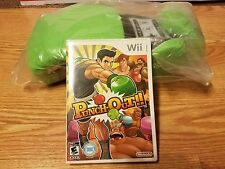 Punch-Out (Nintendo Wii, 2009) with Game Stop Exclusive Green Gloves (sealed)