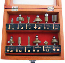 """LOOK"" New 12pc 1/4"" SHANK TCT  ROUTER BIT SET, Shape Wood Shamfer UK STOCK"