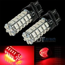 2X 3157 3156 Red SMD 68-LED Brake Stop Tail Lights Bulbs