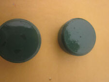 COLEMAN GAS LANTERN OR STOVE PARTS. (2) RESTORED 1-PIECE GREEN GAS FILLER CAPS.