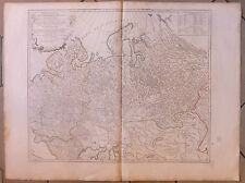 Carte Ancienne Russie Russia  Old Map Gravure Partie Occidentale de l'Empire