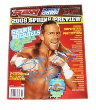 WWE WWF SHAWN MICHAELS HBK HAND SIGNED MAGAZINE MARCH 25 2008 WITH COA