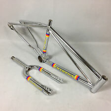 "Old School 1981-82 Champion Racing Chrome 20"" BMX Frame & Fork Set - MINT!"
