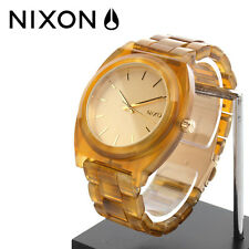 New Nixon Time Teller Acetate Watch Champagne Gold Waterproof 100M Free Shipping