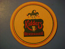 Beer COASTER ~ KIDDERS Brewery & Eatery ~ Fort Myers, FLORIDA ** CLOSED in 1990s