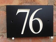 "Slate House Number 6"" x 4"" 150mm x 100mm ANY NUMBER"