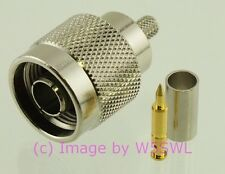Coax Connector N Male Crimp RG-142 - by W5SWL ®