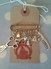 HAND MADE Hairdresser Beauty/Beautician/Hair Salon Silver link Brooch