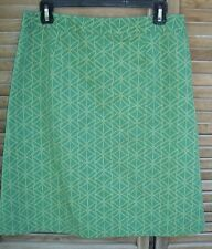 BODEN green printed skirt~ladies size 12R~12~lined~