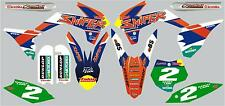 Racer graphic/decal kit to fit KTM 85 2013 on with PERSONALISED NUMBER BOARDS