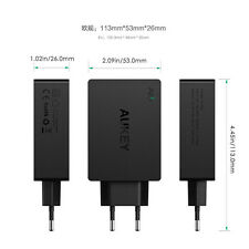 Aukey 4 Port USB AC Wall Charger Quick Charge 2.0 40W 8A EU plug