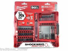 Impact Driver Bit Set, 35 pc Milwaukee Shockwave, 48-32-4007