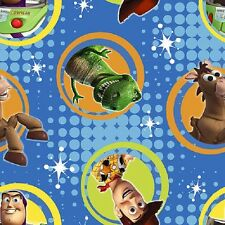 Fat Quarter Disney Toy Story Buzz Badge Cotton Quilting Fabric Springs 52981