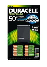 Duracell Rechargeable Ion Speed 4000 Battery Charger With 8 AA & 4 AAA Batteries