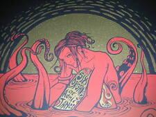 Malleus Six Organs of Admittance concert tour poster silkscreen print 2008