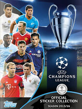2015-16 TOPPS CHAMPIONS LEAGUE STICKERS STARTER PACK ALBUM + 20 STICKERS UEFA