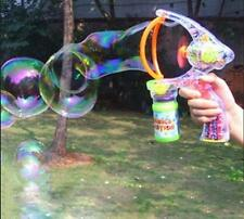 Flashing LED Bubble Gun With Lights Plus With 2 Bottles of Bubbles ^