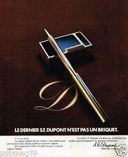 Publicité Advertising 1973 Le Stylo S.T Dupont
