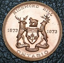1873-1973 RICHMOND HILL, ONTARIO MEDAL - Early Days in Richmond Hill - Nice