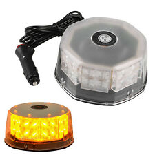 32 LED Amber Magnetic Round Car Roof Emergency Warning Strobe Beacon Light