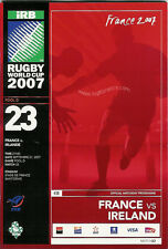 FRANCE v IRELAND RUGBY WORLD CUP 2007 PROGRAMME - MATCH No 23