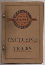 CARL BREMA & SON MAGICAL APPARATUS EXCLUSIVE TRICKS  Vintage Catalogue - Catalog