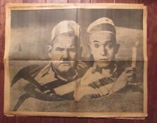1960's Chicago's American Picture Poster Parade LAUREL & HARDY VG 24x30