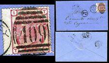1873-80 3d Rose on envelope Plate 16 Sg 143 FINE USED  V69604