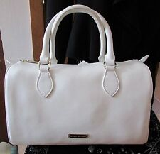 Brooks Brothers Women's White Italian Leather Satchel Handbag -- New With Tags