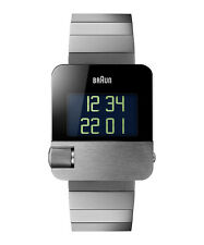 BRAUN Prestige silver-tone steel digital watch BN0106SLBTG