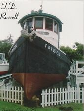 """*Postcard-""""The F. D. Russel Tugboat"""" (Ponce de Leon Inlet Lighthouse/Museum)"""