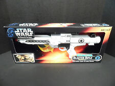 STAR WARS POWER OF THE FORCE ELECTRONIC BLASTER E-11 STORMTROOPER BLASTER NEW