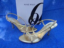 "NINE WEST ""ROTHKO"" Gold Sandals made of quality Man Made material 7,5 US 38 EURO"