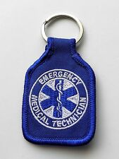 EMT EMERGENCY MEDICAL TECHNICIAN FIRST RESPONDER EMBROIDERED KEY CHAIN KEY RING