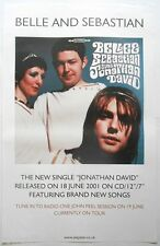 BELLE AND SEBASTIAN Jonathan David Rare Orig Official UK Record Company POSTER