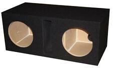 """15"""" inch BLACK Dual Subwoofer Speaker Box Enclosure Vented Labyrinth Obcon"""