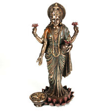 "LAKSHMI STATUE 10"" Hindu Indian Wealth Goddess HIGH QUALITY Bronze Resin Laxmi"