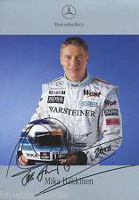 Mika Häkkinen Autogrammkarte 2000, aufgedruckte Unterschrift, printed sign