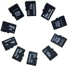 10 x 2GB Branded Micro SD Memory Cards with Samsung SD Adapters