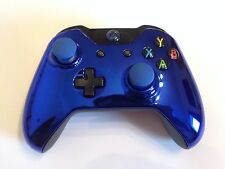 Xbox One 1 Custom Wireless Controller (Chrome Blue) Domed Thumbsticks