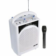 Pyle Pwma100 Rechargeable Portable Amplifier Speaker With Wireless Mic