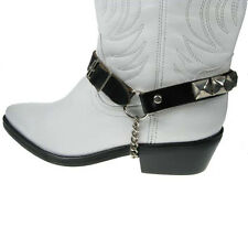 Uni Sex Pyramid Studded Leather Boot strap punk rock goth emo gothic stud metal