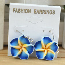Wholesale Retail Colorful Hawaiian Frangipani Lovely Flower Children's Earrings