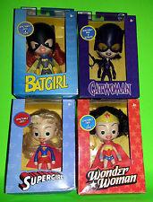 DC HERO LOT Sleepy Creepy Eye Dolls SET WONDER WOMAN Catwoman BAT GIRL SuperGirl