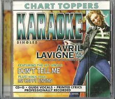 Karaoke: AVRIL LAVIGNE ~ Don't Tell Me / My Happy Ending (CD, 2004) NEW SEALED!