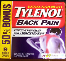 Tylenol Back Pain Relief Acetaminophen & Methocarbamol Muscle Relaxant BONUS