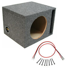 "Car Audio Single 10"" Ported Subwoofer Enclosure Stereo Bass Mdf Speaker Sub Box"